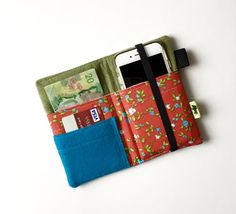 iPhone 6 Plus wallet Festival wallet Red Flower Cell Phone