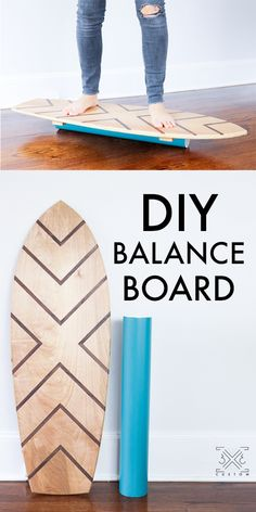 Custom DIY Balance Board - Easy DIY Gift idea that the kids will love and they wont even realize they are getting a good workout! board DIY Balance Board with Walnut Inlay Easy Projects, Wood Projects, Woodworking Projects, Woodworking Bench, Project Ideas, Balance Board, Easy Diy Gifts, Diy Holz, Pinterest Diy