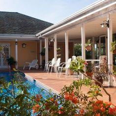 Polkerris Pool and Bourgenvillia - #JamaicaInn