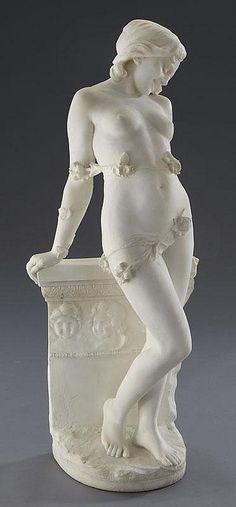 Emilio Fiaschi (1858-1941) - Female nude partially dressed (modeled as)