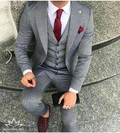 Grads and debs suit ideas Blazer Outfits Men, Stylish Mens Outfits, Dress Suits For Men, Men Dress, Mens Fashion Suits, Mens Suits, Grey Suit Men, Formal Men Outfit, Mode Costume