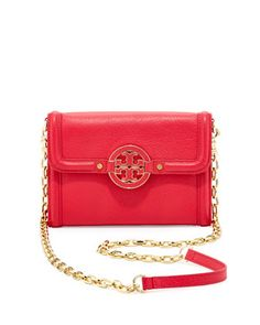 Amanda Wallet On A Chain, Hot Pink  by Tory Burch at Neiman Marcus.