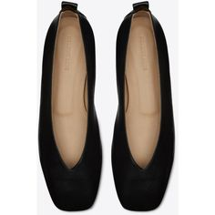 NAPPA BALLET FLAT (€405) ❤ liked on Polyvore featuring shoes, flats, ballerina shoes, ballet shoes flats, skimmer shoes, ballet pumps and skimmer flats