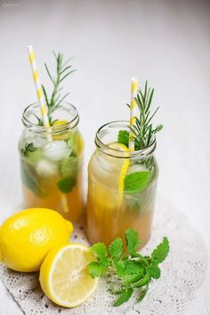 Simple recipe for herbal lemonade /You can find Lemonade and more on our website.Simple recipe for herbal lemonade / Detox Juice Recipes, Easy Drink Recipes, Herb Recipes, Juicer Recipes, Healthy Recipes, Healthy Drinks For Kids, Healthy Eating Tips, Healthy Nutrition, Healthy Lemonade
