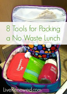 This is really helpful! 8 Tools for packing a healthy, no waste lunch at LiveRenewed.com