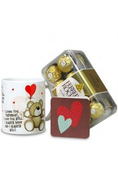 Let your friendship go stronger with this lovely combo of Chocolates & Mug Love Hamper from Archies. #gifthampers #friendshipdaygifts #chocolateboxes #coffeemugs #chocolateandcoffeemugs #friendshipdaygiftsonline  Shop here- https://trendybharat.com/trendy-pitara/style-box/chocolates-mug-love-hamper-val16-199