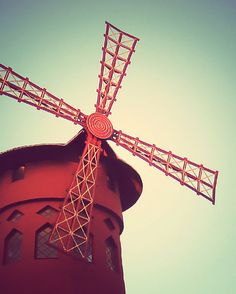 Ahhh, yes.... Moulin Rouge Windmill Paris 8x10 Art Photo Print by gypsyfables, $18.00