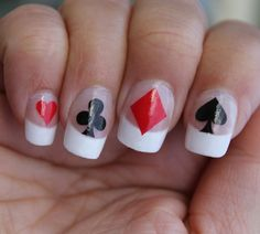 60 Playing Card Suites Symbols Nail By Northofm 6 99