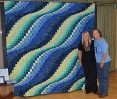 Wow - amazing Bargello quilt