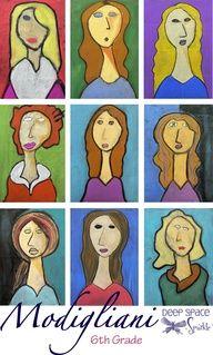 """Modigliani-art-lesson: Possible self-portraits lesson."""" data-componentType=""""MODAL_PIN"""