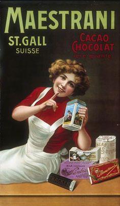 Maestrani. St. Gall. Suisse. Cacao chocolat 1ère qualité. 1906.