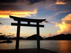 恵美須神社の夕暮れ