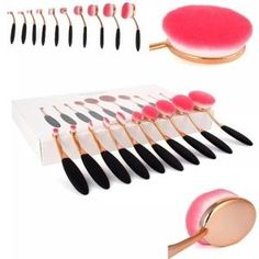 10pcs Profesional Makeup Brushes comes in the box