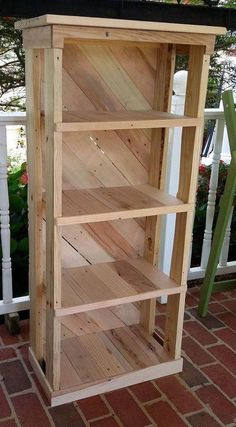 Rustic Recycled Pallet Wood Bookshelf Book by SpencerValleyEcoFarm - Wood Bookcases - Ideas of Wood Bookcases - Rustic Recycled Pallet Wood Bookshelf Book by SpencerValleyEcoFarm Pallet Furniture Designs, Wooden Pallet Projects, Diy Furniture Plans, Diy Furniture Projects, Woodworking Projects Diy, Wood Furniture, Woodworking Plans, Popular Woodworking, Furniture Storage