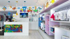 Kids Boutique, Boutique Stores, Clothing Store Design, Shop Counter, Showroom Design, Kids Store, Baby Shop, Retail Design, Bananas