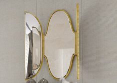 Miroir, mod: SAN GALO Feuille D'or, Oversized Mirror, San, Solid Wood, Contact Form, Gold Leaf, Sheet Metal, Mirrors