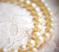 Pearls and Lace - intricate combination #LELOBridal #wedding