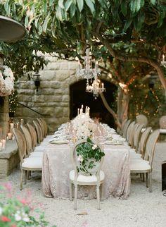 Enchanting al fresco outdoor wedding: Venue: San Ysidro Ranch - http://www.stylemepretty.com/portfolio/stonehouse-at-san-ysidro Floral Design: Cody Floral Design - http://www.stylemepretty.com/portfolio/cody-floral-design Event Design: La Fete - http://www.stylemepretty.com/portfolio/lafete   Read More on SMP: http://www.stylemepretty.com/california-weddings/2017/01/12/enchanting-alfresco-wedding-glowing-with-candlelight/