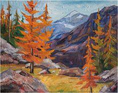"Alpine Larches, 8""X10"", oil on canvas, private collection, www.capriceartstudio.com!"