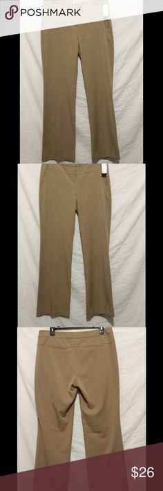 Cute Tan Brown office slacks size 8 NWT Elle Tan brown slacks. Great for work or casual wear. Size 8 NWT Elle Pants Trousers