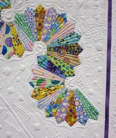 """""""Let's Do the Dresden Twist"""" quilt by Teri Cherne. 2014 PIQF, closeup photo by Tami Levin   Lemon Tree Tales"""