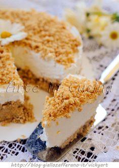 Cheesecake kinder paradiso sbriciolata torta fredda vickyart arte in cucina