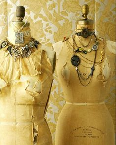 vintage forms displaying jewelry everything-pretty