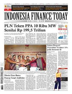 Indonesia Finance Today - 26/06/15   PLN Teken PPA 10 Ribu MWSenilai Rp 199,5 Triliun