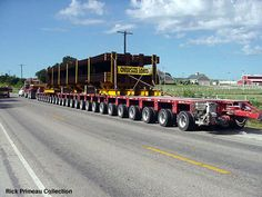 Truck with oversize load   YOU MAY NOT DOWNLOAD ANY PICTURE FROM THIS WEB SITE TO BE USED ON ...