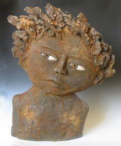 Carlos Beltran Baldiviezo Artwork Title: Time Traveler, Ceramics Handbuilt.