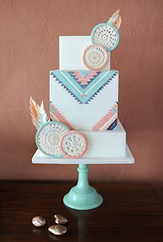 Inspirado-sudoeste del pastel de bodas Square | Pastel de boda