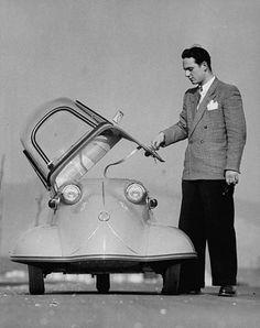 Vintage car and suit