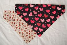 Valentine's Day Dog Bandana Cat Bandana  Red or by InspiredByMocha