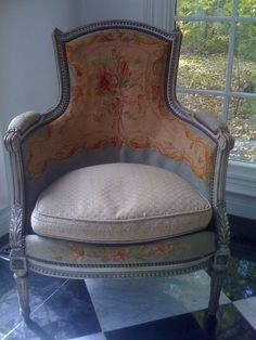 Beautiful French needlepoint chair.