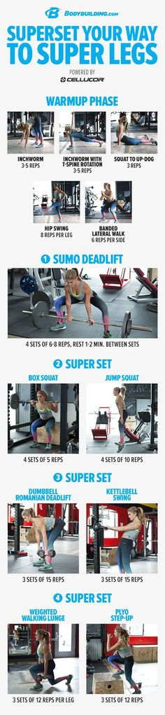 Superset Your Way To Super Legs! This power-developing leg workout will improve…