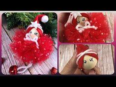 Homemade Christmas Decorations, Christmas Crafts For Gifts, Christmas Home, Christmas Holidays, Xmas, Christmas Ornaments, Dyi Crafts, Yarn Crafts, Angel Crafts