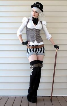 Steampunk fashion! This is really cute actually, wouldn't be able to afford to change my whole wardrobe again though haha