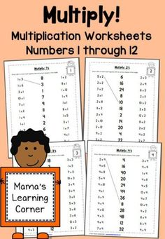 *FREE* Multiplication Worksheets 1-12