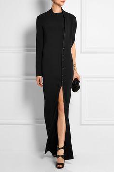 Esteban Cortazar|Silk satin-trimmed crepe gown|NET-A-PORTER.COM