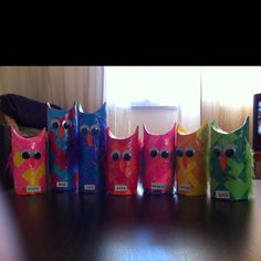 Toilet Paper Owl Craft. More Valentines day craft ideas.
