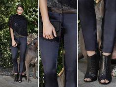 SHE'S SO CHIC! Minimal ed elegante il pantalone in raso blu notte con cinturino in pelle firmato Kubera108. Adatto per ogni occasione!! #minimal #elegant #trousers