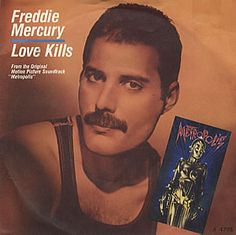 """For Sale -Freddie Mercury Love Kills UK 7"""" vinyl single (7 inch record)- See this and 250,000 other rare and vintage records & CDs at http://eil.com/"""