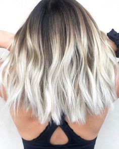 Summer hair color trends for 2019 from blond to brunette rose gold Ombre Hair Color, Hair Color Balayage, Brunette Color, Brown Balayage, White Ombre Hair, Blonde Balayage, Gray Ombre, Brunette Hair, Summer Brunette