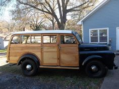 Dodge Woodie recent amateur rebuild. Wrong timbers used.