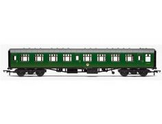 The BR (Ex-SR) Mk1 3rd Class Coach with Lights, is part of the Hornby Coaches range and accurately recreates the real life coach in stunning detail.