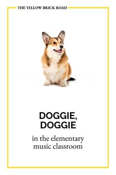 Doggie, Doggie is a fun guessing game that you can use with younger students to practice pitch (mi, so, la) or rhythm (quarter and barred eighth notes). You could also use it to sneakily asses your students' pitch-matching skills. Music Education Games, Music Games, Music Mix, Elementary Music Lessons, Middle School Music, Yellow Brick Road, Music Classroom, Choir, Pitch