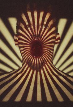 Digital art visual projection by Benowski Projector Photography, Shadow Photography, Dark Photography, Creative Photography, Portrait Photography, Experimental Photography, Photo Projects, Op Art, Motion Design