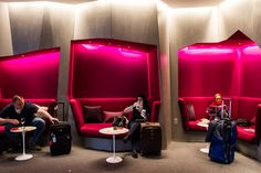 Newly opened Virgin Atlantic Clubhouse lounge at Newark International Airport