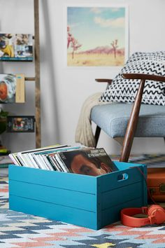 4040 Locust Vinyl Record Storage Crate - Urban Outfitters