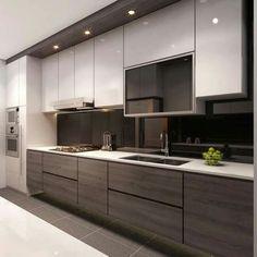 Kitchen Room Design, Modern Kitchen Cabinets, Kitchen Cabinet Design, Modern Kitchen Design, Kitchen Layout, Home Decor Kitchen, Interior Design Kitchen, Kitchen Furniture, Home Design